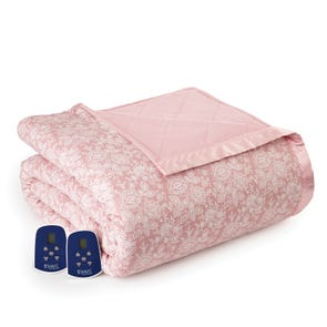 Shavel Micro Flannel® Twin Electric Heated Blanket - Enchantment Rose