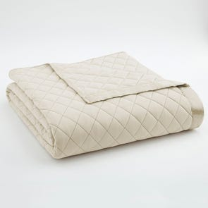 Shavel Micro Flannel® Ivory Quilted Blanket