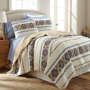 Shavel Micro Flannel® Lodge Stripe Quilt Set