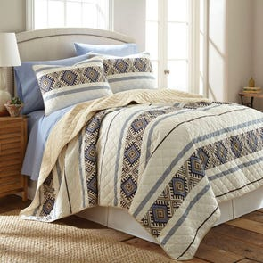 Shavel Micro Flannel® Lodge Stripe Quilt Set
