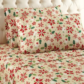 Shavel Micro Flannel® Cal King Sheet Set - Poinsettia