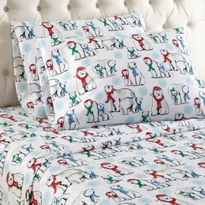Shavel Micro Flannel® Queen Sheet Set - Polar Bears