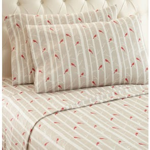 Shavel Cardinals Printed Micro Flannel® Sheet Set