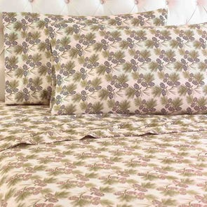 Shavel Pinecone Printed Micro Flannel® Sheet Set