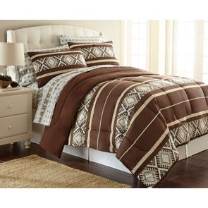 Shavel Micro Flannel® Reindeer Stripe Comforter Set