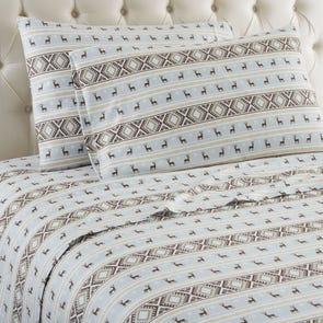 Shavel Micro Flannel® Reindeer Stripe Sheet Set