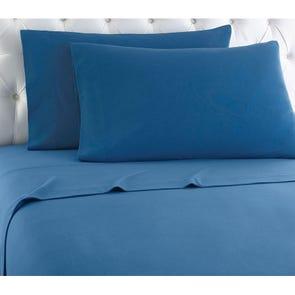 Shavel Micro Flannel® Twin XL Sheet Set - Smokey Mountain Blue