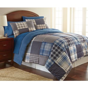 Shavel Micro Flannel® Smokey Mt. Plaid Comforter Set