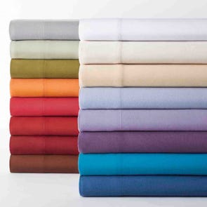 Shavel Micro Flannel® Solid Color Twin Sheet Set