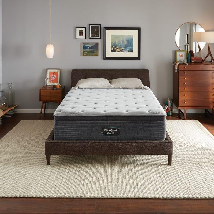 2019年新款 Queen席夢思銀標BRS900獨立筒舒適層床墊 (3.5號) 軟硬適中稍偏硬 美國代購席夢思