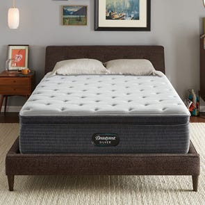 Full XL Simmons Beautyrest Silver Kenosha Place 4 Medium Pillow Top 14.75 Inch Mattress
