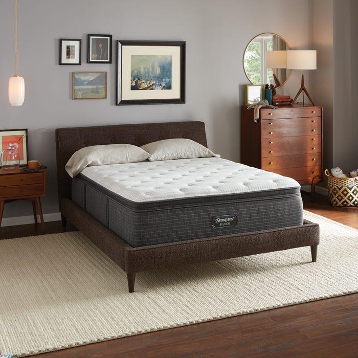 2019年新款 Queen席夢思銀標BRS900-C獨立筒舒適層床墊 (3號)偏硬 美國代購席夢思