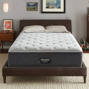 Queen Simmons Beautyrest Silver Lydia Manor 4 Plush 14.5 Inch Mattress