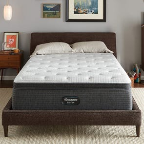 Simmons Beautyrest Silver Lydia Manor 4 Plush Pillow Top 16 Inch King Mattress Only SDMB121963 - Scratch and Dent Model ''As-Is''