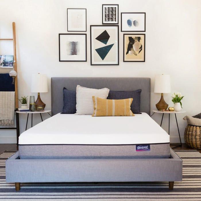 美國席夢思 Queen透氣涼感記憶膠床墊(4.5號)軟硬度適中 Simmons Beautyrest ST 10 Inch Bed In A Box Lux Firm Mattress