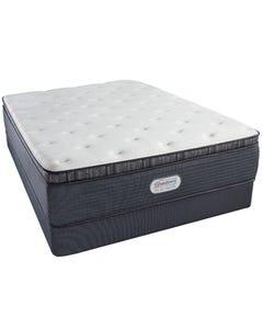 Queen Simmons Beautyrest Platinum Phillipsburg III Luxury Firm Pillow Top Mattress Set