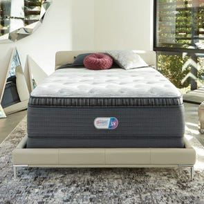 Queen Simmons Beautyrest Platinum Haven Pines Luxury Firm Pillow Top 16.5 Inch Mattress