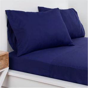SIS Covers Crayola Full Microfiber Sheet Set in Navy Blue