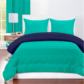 SIS Covers Crayola Full/Queen Reversible Comforter Set in Blue Green and Navy Blue