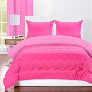 SIS Covers Crayola Full/Queen Reversible Comforter Set in Pink Flamingo and Hot Magenta