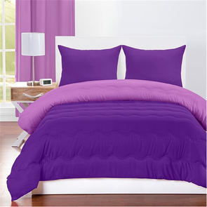 SIS Covers Crayola Full/Queen Reversible Comforter Set in Vivid Violet and Royal Purple