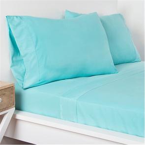 SIS Covers Crayola Full Size Microfiber Sheet Set in Robin's Egg Blue