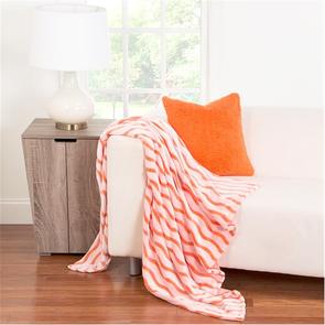 SIS Covers Crayola Fuzzy Throw in Outrageous Orange