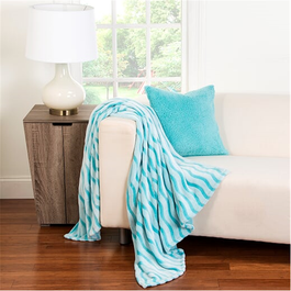 Sis Covers Crayola Fuzzy Throw In Robin S Egg Blue