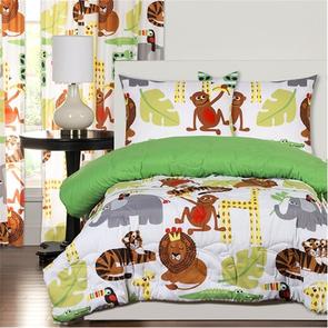 SIS Covers Crayola Jungle Love Full/Queen Comforter Set