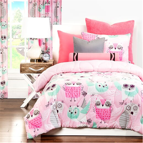 SIS Covers Crayola Night Owl Twin Comforter Set