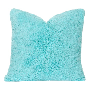 SIS Covers Crayola Playful Plush 16 x 16 Pillow in Robin's Egg Blue