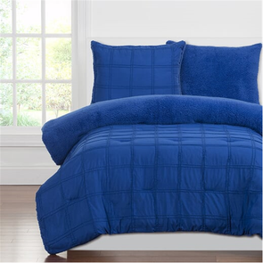 SIS Covers Crayola Playful Plush Full/Queen Comforter Set in Blue Berry Blue