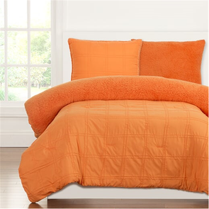 SIS Covers Crayola Playful Plush Full/Queen Comforter Set in Outrageous Orange