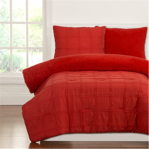 SIS Covers Crayola Playful Plush Full/Queen Comforter Set in Scarlet