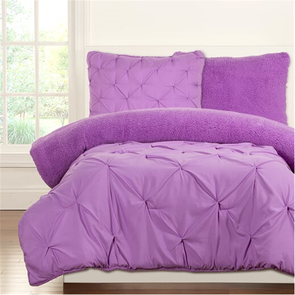 SIS Covers Crayola Playful Plush Full/Queen Comforter Set in Vivid Violet