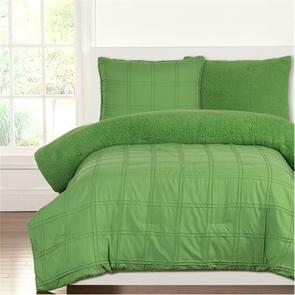 SIS Covers Crayola Playful Plush Twin Comforter Set in Jungle Green