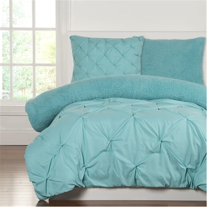 SIS Covers Crayola Playful Plush Twin Comforter Set in Robin's Egg Blue