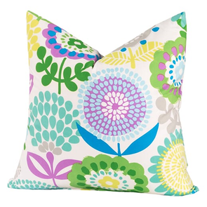 SIS Covers Crayola Pointillist Pansy 20 x 20 Pillow
