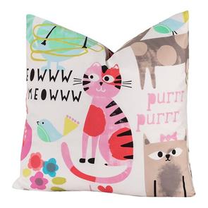 SIS Covers Crayola Purrty Cat 16 x 16 Pillow