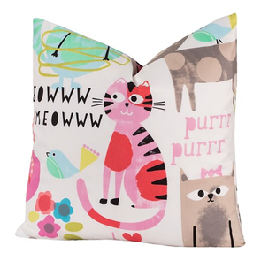 SIS Covers Crayola Purrty Cat 26 x 26 Pillow