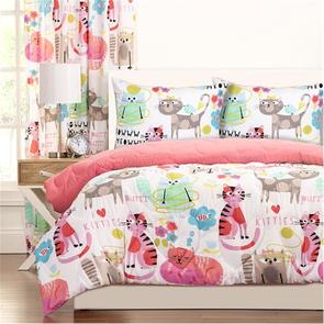SIS Covers Crayola Purrty Cat Full/Queen Comforter Set