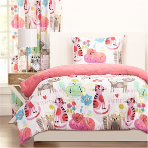 SIS Covers Crayola Purrty Cat Twin Comforter Set