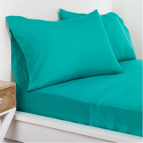 SIS Covers Crayola Queen Microfiber Sheet Set in Blue Green