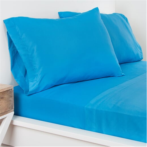 SIS Covers Crayola Queen Microfiber Sheet Set in Cerulean