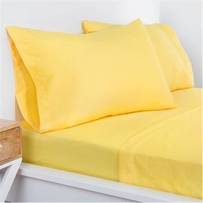 SIS Covers Crayola Queen Microfiber Sheet Set in Laser Lemon