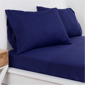 SIS Covers Crayola Queen Microfiber Sheet Set in Navy Blue