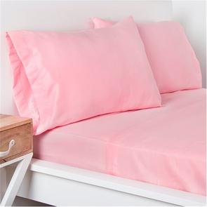 SIS Covers Crayola Queen Microfiber Sheet Set in Tickle Me Pink