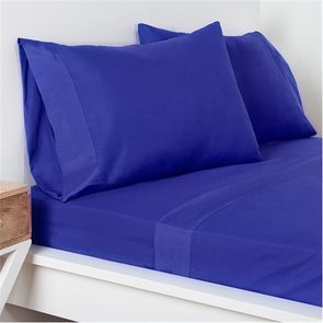SIS Covers Crayola Queen Size Microfiber Sheet Set in Blue Berry Blue