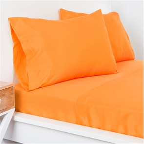 SIS Covers Crayola Queen Size Microfiber Sheet Set in Outrageous Orange