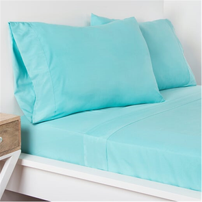SIS Covers Crayola Queen Size Microfiber Sheet Set in Robin's Egg Blue
